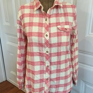 Urban Outfitters Red and White Flannel